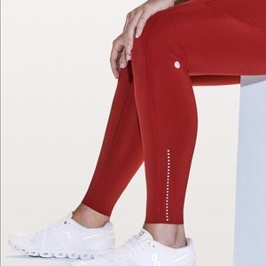Dark Red Fast and Frees lululemon 7/8